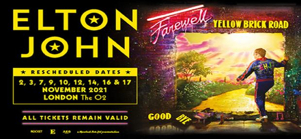 RESCHEDULED: Elton John