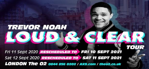 RESCHEDULED: Trevor Noah
