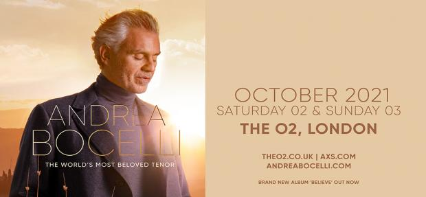 RESCHEDULED: Andrea Bocelli